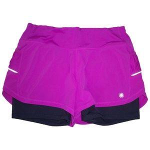 Athleta M Ready Set Go Skort Shorts Fuchsia